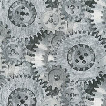 Vliesové tapety na zeď Il Decoro industriální vzor šedý