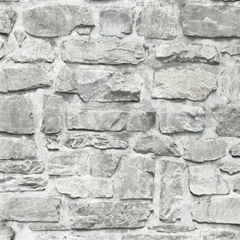 Vliesové tapety na zeď Il Decoro ukládaný kámen šedý