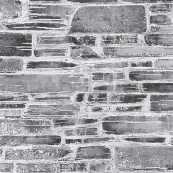 Papírové tapety na zeď Il Decoro kámen šedý