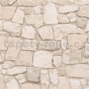 Papírové tapety na zeď Il Decoro kámen světle hnědý