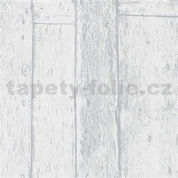 Vliesové tapety na zeď Imagine dřevěný obklad šedý s výraznou strukturou
