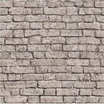 Papírové tapety na zeď It's Me cihla hnědá