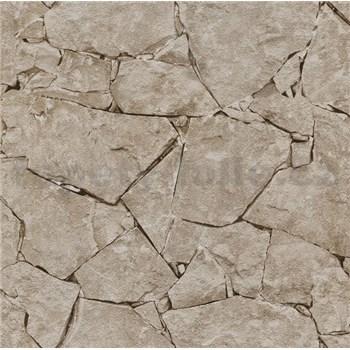 Papírové tapety na zeď It's Me kámen štípaný hnědý - POSLEDNÍ KUSY