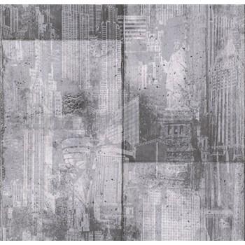 Papírové tapety na zeď It's Me betonové bloky tmavě šedé - POSLEDNÍ KUSY