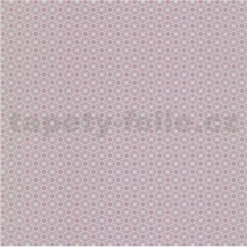 Papírové tapety na zeď Je T´aime geometrický vzor růžový