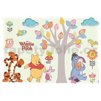 Samolepky na zeď Disney Medvídek Pú milovníci přírody rozměr 50 cm x 70 cm