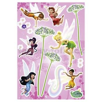 Samolepky na zeď Disney Víly květy rozměr 50 cm x 70 cm