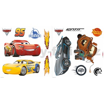 Samolepky na sklo Disney Cars 3 rozměr 31 cm x 31 cm