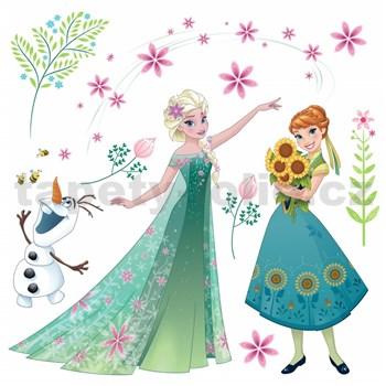 Samolepky na sklo Disney Frozen květy rozměr 31 cm x 31 cm