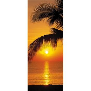 Fototapety palma a západ slunce rozměr 92 cm x 220 cm
