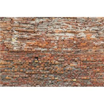 Vliesové fototapety cihlová zeď rozměr 368 cm x 248 cm