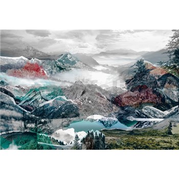 Vliesové fototapety horský výhled rozměr 368 cm x 248 cm