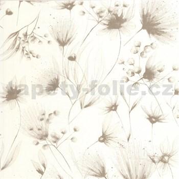 Vliesové tapety na zeď G. M. Kretschmer Sommeraktion květy světle hnědé