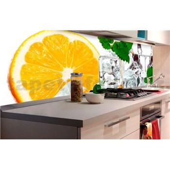 Samolepící tapety za kuchyňskou linku citron a led rozměr 180 cm x 60 cm