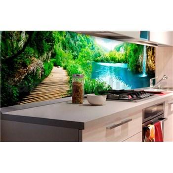 Samolepící tapety za kuchyňskou linku vodopády v lese rozměr 180 cm x 60 cm