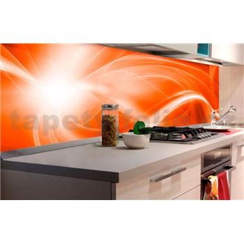 Samolepící tapety za kuchyňskou linku abstrakt oranžový rozměr 180 cm x 60 cm