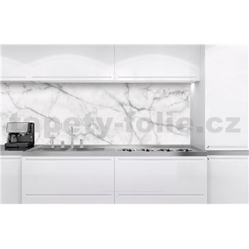 Samolepící tapety za kuchyňskou linku bílý mramor rozměr 180 cm x 60 cm