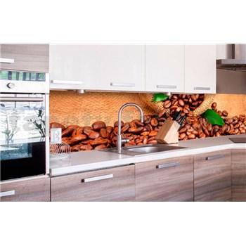 Samolepící tapety za kuchyňskou linku kávová zrnka rozměr 260 cm x 60 cm