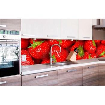 Samolepící tapety za kuchyňskou linku jahody rozměr 260 cm x 60 cm