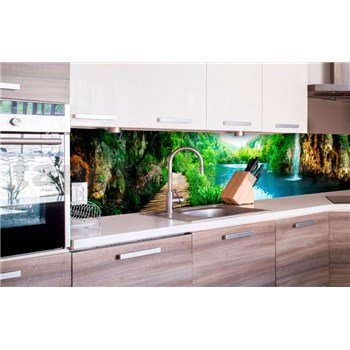 Samolepící tapety za kuchyňskou linku vodopády v lese rozměr 260 cm x 60 cm
