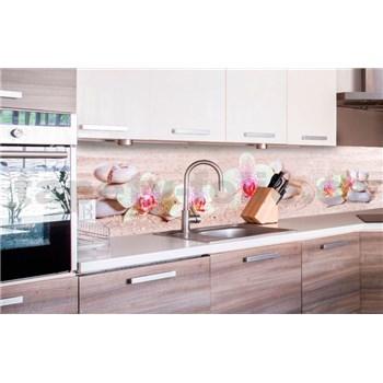 Samolepící tapety za kuchyňskou linku ZEN květiny rozměr 260 cm x 60 cm