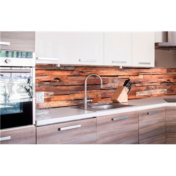 Samolepící tapety za kuchyňskou linku dřevěná stěna rozměr 260 cm x 60 cm