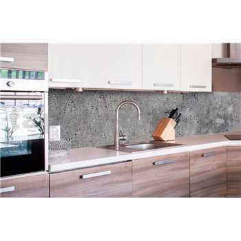 Samolepící tapety za kuchyňskou linku beton šedý rozměr 260 cm x 60 cm