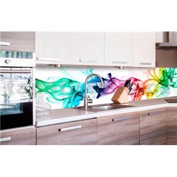 Samolepící tapety za kuchyňskou linku kouř barevný rozměr 260 cm x 60 cm