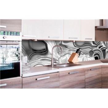Samolepící tapety za kuchyňskou linku tekuté stříbro rozměr 260 cm x 60 cm