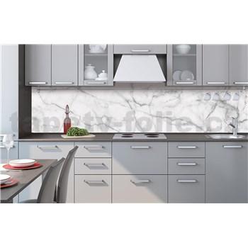 Samolepící tapety za kuchyňskou linku bílý mramor rozměr 260 cm x 60 cm