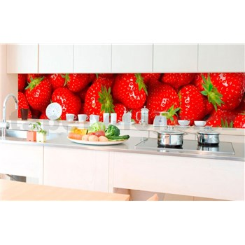 Samolepící tapety za kuchyňskou linku jahody rozměr 350 cm x 60 cm