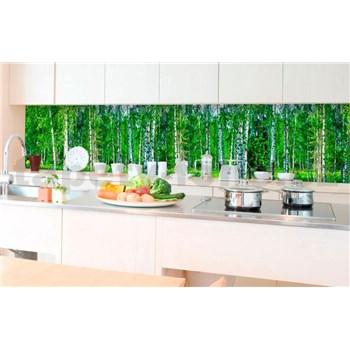 Samolepící tapety za kuchyňskou linku březový les rozměr 350 cm x 60 cm