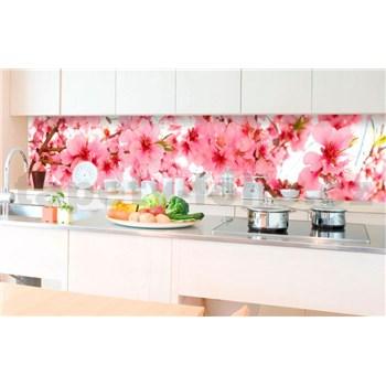 Samolepící tapety za kuchyňskou linku jabloňově květy rozměr 350 cm x 60 cm