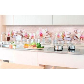 Samolepící tapety za kuchyňskou linku ZEN květiny rozměr 350 cm x 60 cm