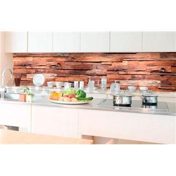 Samolepící tapety za kuchyňskou linku dřevěná stěna rozměr 350 cm x 60 cm