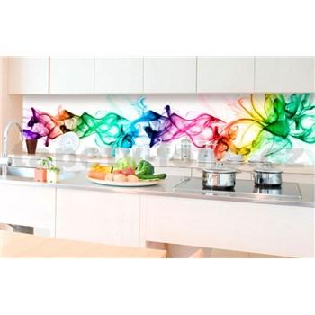Samolepící tapety za kuchyňskou linku kouř barevný rozměr 350 cm x 60 cm
