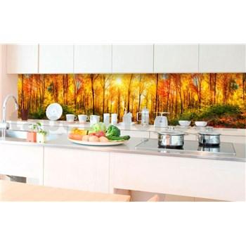 Samolepící tapety za kuchyňskou linku slunný les rozměr 350 cm x 60 cm