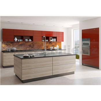 Samolepící tapety za kuchyňskou linku měděný kovový plát rozměr 350 cm x 60 cm