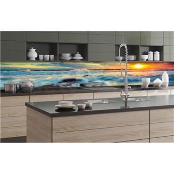 Samolepící tapety za kuchyňskou linku západ slunce na pobřeží rozměr 350 cm x 60 cm