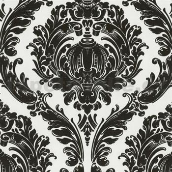 Tapety na ze� Classico - barokn� vzor - �ern� - b�l� podklad