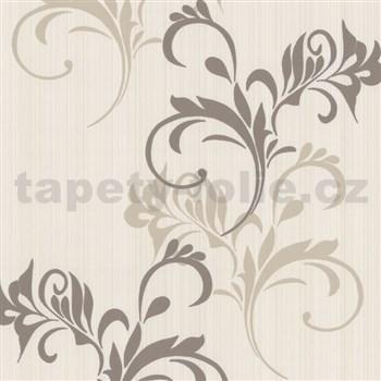 Vliesové tapety na zeď Lacantara2 - moderní větvičky - hnědé