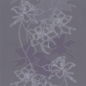 Tapety na zeď Lacantara2 - popínavé listy - šedé - SLEVA