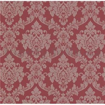 Luxusní vliesové tapety na zeď LACANTARA zámecký vzor zlatý na vínově červeném podkladu