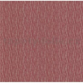 Luxusní vliesové tapety na zeď LACANTARA vlnovky zlaté na vínově červeném podkladu
