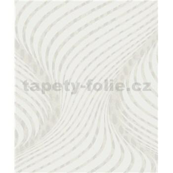 Vliesové tapety na zeď La Veneziana 3 šroubovice bílo-hnědá