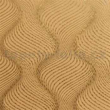 Vliesové tapety na zeď La Veneziana 3 šroubovice zlatá