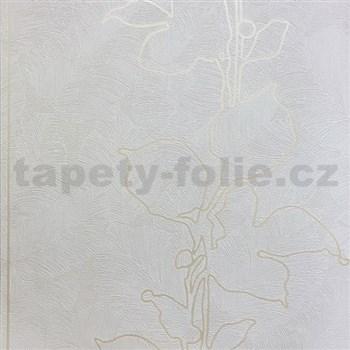 Vliesové tapety na zeď La Veneziana 3 listy krémové na světle hnědém podkladu