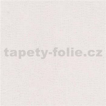 Vliesové tapety na zeď La Veneziana IV tečky stříbrné na krémovém podkladu