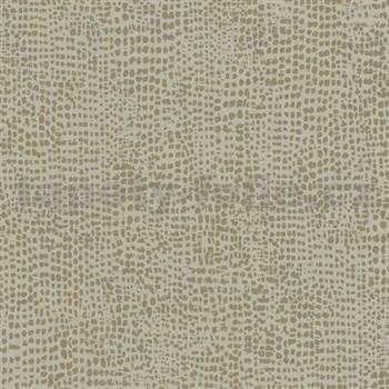 Vliesové tapety na zeď La Veneziana 4 tečky zlaté na šedém podkladu