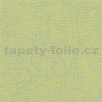 Vliesové tapety na zeď La Veneziana 4 tečky stříbrné na limetkovém podkladu